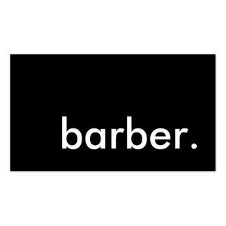 barber. pack of standard business cards