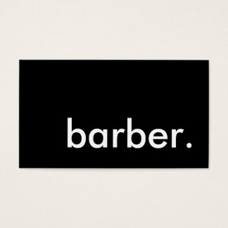 barber. business card