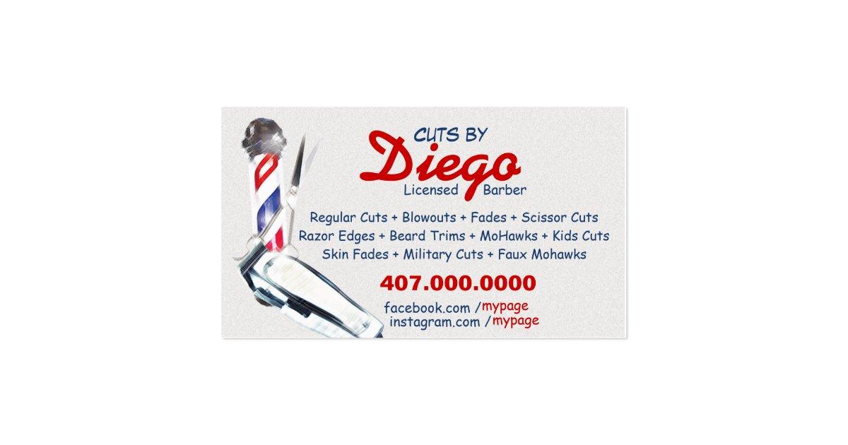 barber logos business cards - photo #18