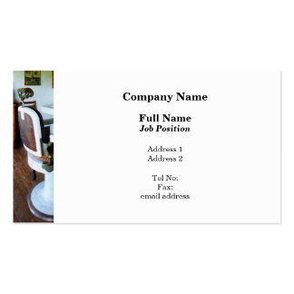 Barber Chair and Cash Register Business Card Template