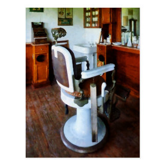 Barber Chair with Cash Register Postcard