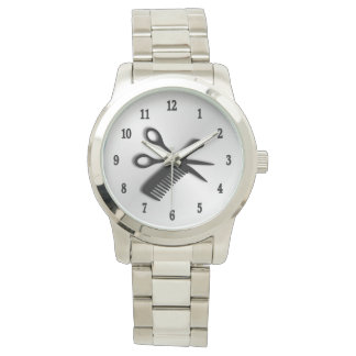 Barber Design Silver with Black Numbers Wristwatch