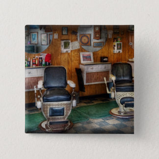 Barber - Frenchtown, NJ - Two old barber chairs  15 Cm Square Badge