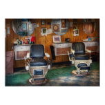 Barber - Frenchtown, NJ - Two old barber chairs Personalized Announcements
