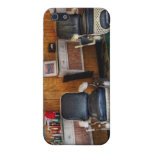 Barber - Frenchtown, NJ - Two old barber chairs iPhone 5 Cases