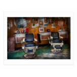 Barber - Frenchtown, NJ - Two old barber chairs Postcard