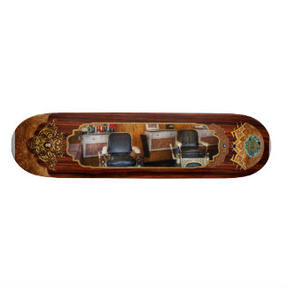 Barber - Frenchtown, NJ - Two old barber chairs  Skateboard Decks