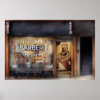 Barber - Getting a hair cut Print