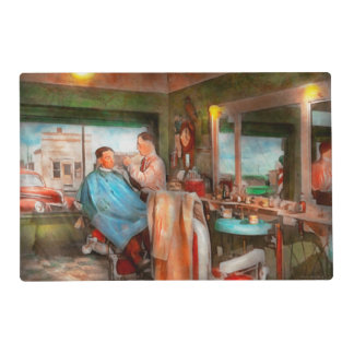 Barber - Getting a trim 1942 Laminated Placemat