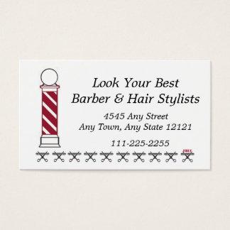 Barber Hair Stylist Customer Loyalty Punch Card -