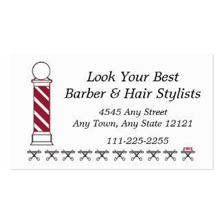 Barber Hair Stylist Customer Loyalty Punch Card - Business Card Templates