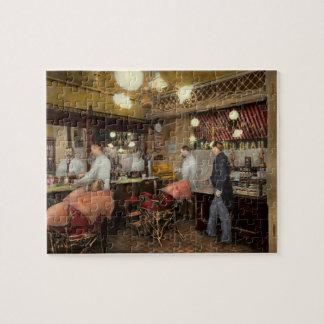 Barber - L.C. Wiseman Barbershop, NY 1895 Jigsaw Puzzle