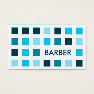 BARBER (mod squares) Business Card