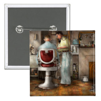 Barber - Our family barber 1935 15 Cm Square Badge