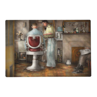 Barber - Our family barber 1935 Laminated Place Mat