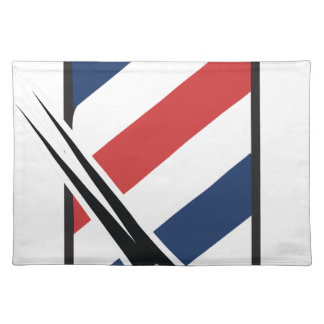 barber pole placemat