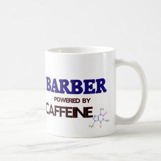 Barber Powered by caffeine Basic White Mug