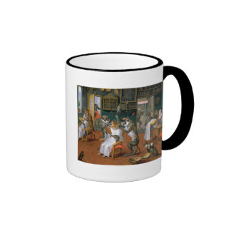 Barber s shop with Monkeys and Cats Coffee Mugs