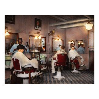 Barber - Senators-only barbershop 1937 21.5 Cm X 28 Cm Flyer