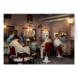Barber - Senators-only barbershop 1937 Card