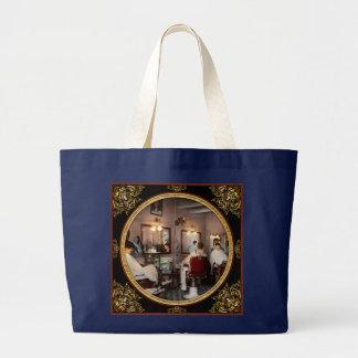 Barber - Senators-only barbershop 1937 Large Tote Bag
