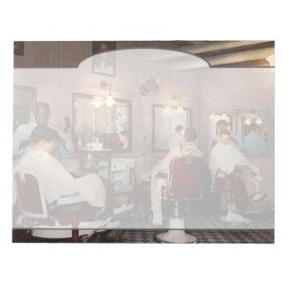Barber - Senators-only barbershop 1937 Notepad