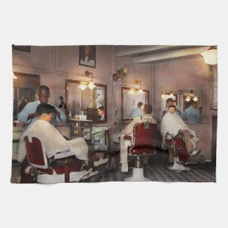 Barber - Senators-only barbershop 1937 Tea Towel