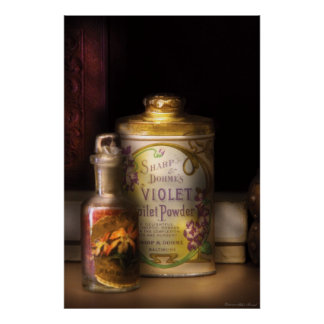 Barber -  Sharp & Dohme's Violet Toilet Powder Poster