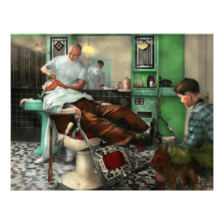 Barber - Shave - Pennepacker's barber shop 1942 21.5 Cm X 28 Cm Flyer