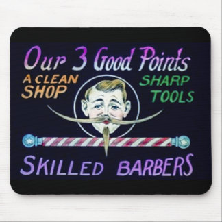Barber Shop Barbers Advertise Your Business Mouse Pad