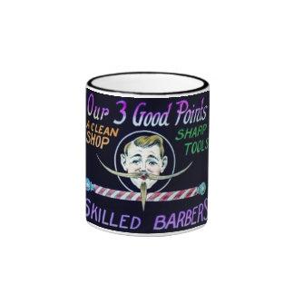 Barber Shop Barbers Advertise Your Business Ringer Mug