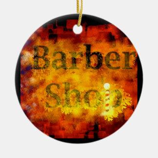 Barber Shop Ceramic Ornament
