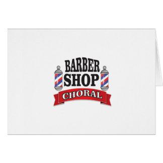 barber shop choral card