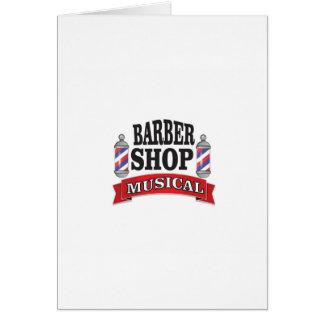 barber shop musical card