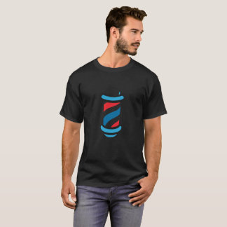 Barber Shop Old School Red White Blue Spinning T-Shirt