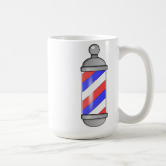 Barber Shop Pole Basic White Mug