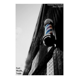 Barber Shop Pole Poster