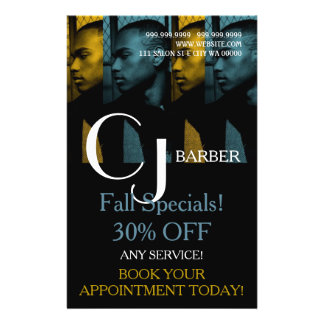 Barber Shop Salon Stylist Hair  Flyer Menu