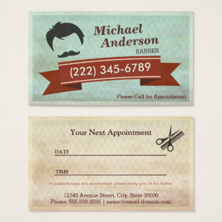 Barber Shop Salon  - Vintage Appointment Card
