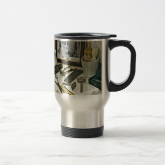 Barber Shop Stainless Steel Travel Mug