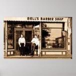 Barber Shop Vintage Retro Americana Print