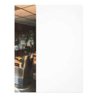 Barber Shop With Sun Streaming Through Window 21.5 Cm X 28 Cm Flyer