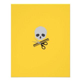 Barber skull 11.5 cm x 14 cm flyer
