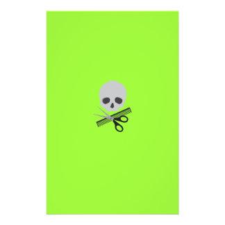 Barber skull 14 cm x 21.5 cm flyer