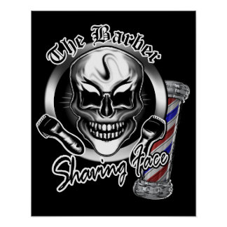 Barber Skull Poster