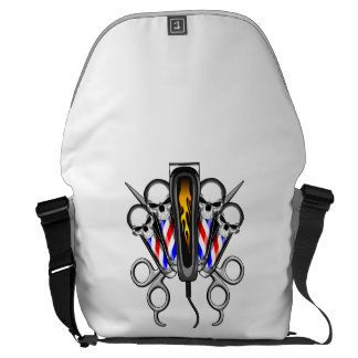 Barber Skull Quartet Messenger Bags