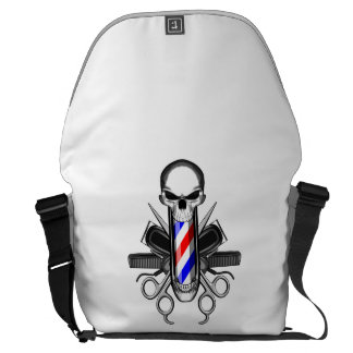 Barber Skull: Tools of the Trade Courier Bags