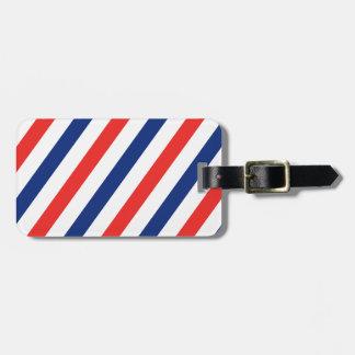 Barber Stripes Luggage Tag