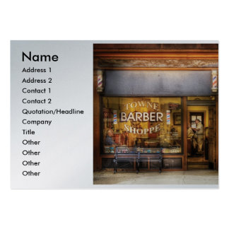 Barber - Towne Barber Shop, Name, Address 1, Ad... Pack Of Chubby Business Cards