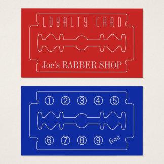 Barbers loyalty card elegance look